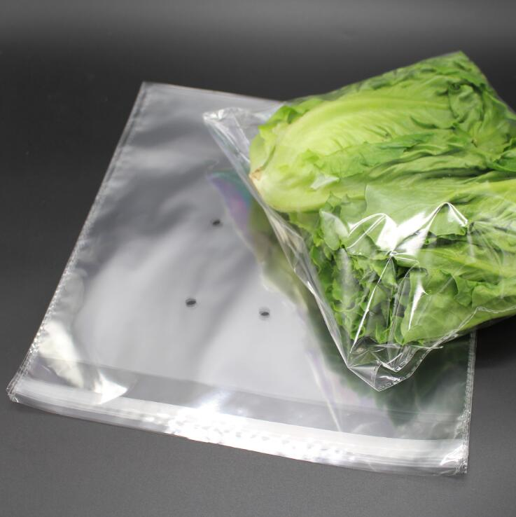 Anti - fog Self - adhesive And Transparent Vegetable Packaging Bags