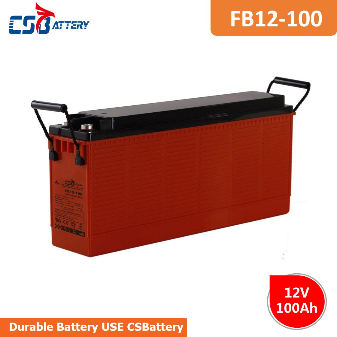 CSBattery 12v100ah backup energy  Lead acid Battery for Golf-car/Buggies/Emergency-lighting/Power-Inverter/forklift