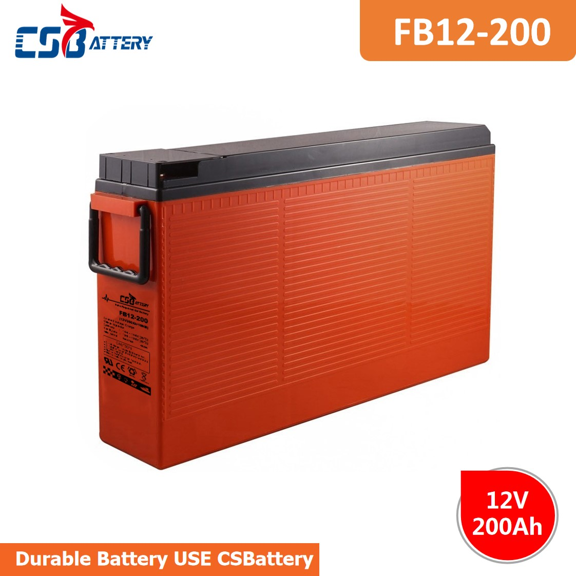 CSBattery 12V 200Ah silmFront Terminal        AGM Battery for Car/Bus/UPS/Electric-power/power-tools/Golf-car/solar-storage