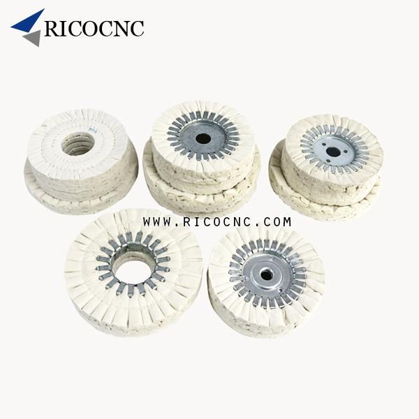 Edgebander Polishing Wheels Cloth Buffing Pads for Edge Banding Machines