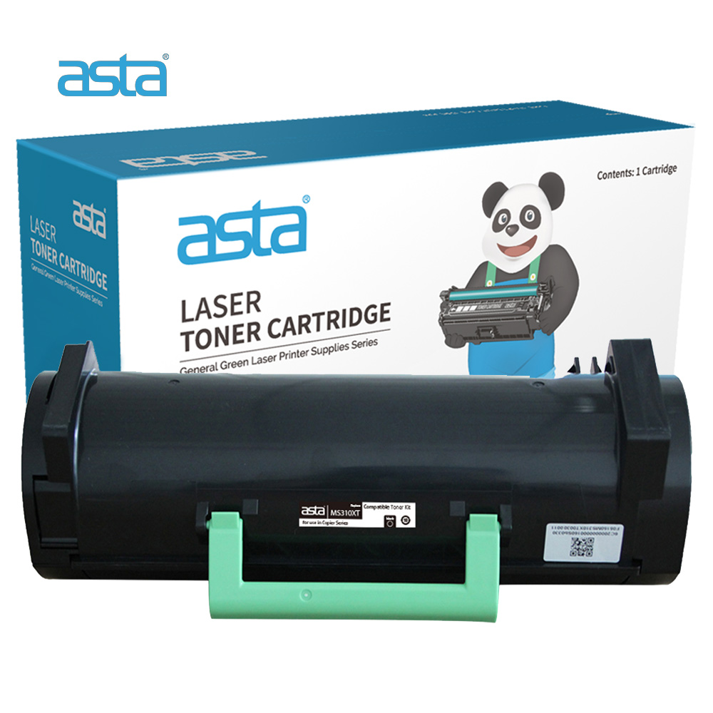 ASTA Factory Wholesale High Quality Laser Compatible Toner Cartridge For Lexmark MS310 MS410 MS510 MS610 MS312 MS315 MS415