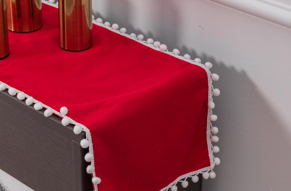 Christmas Red Table Runner