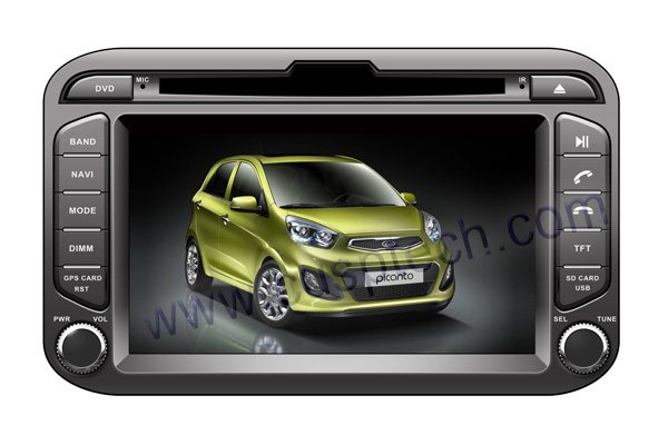 CS-K011 CAR DVD PLAYER WITH GPS FOR KIA PICANTO MORNING 2011-2012
