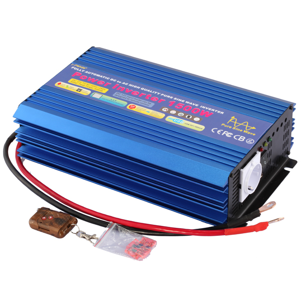Pure sine wave inverter with remote control 1500W