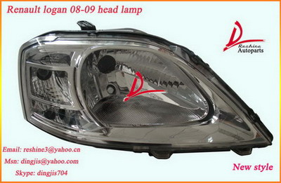 renault logan head lamp, renault logan auto body parts