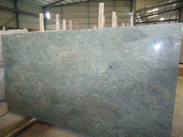 Teal green granite Slab