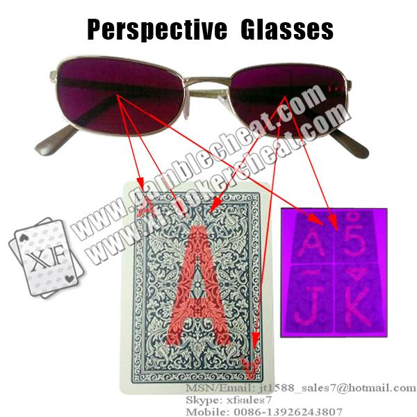 XF Perspective Glasses/poker analyzer/poker cheat/marked cards/infrared lens/poker scanner
