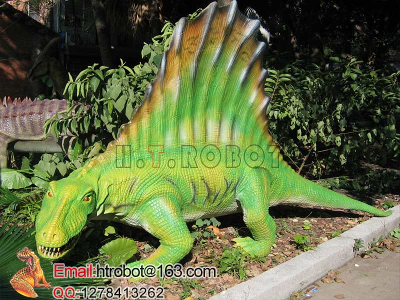 fairground animated dinosaur