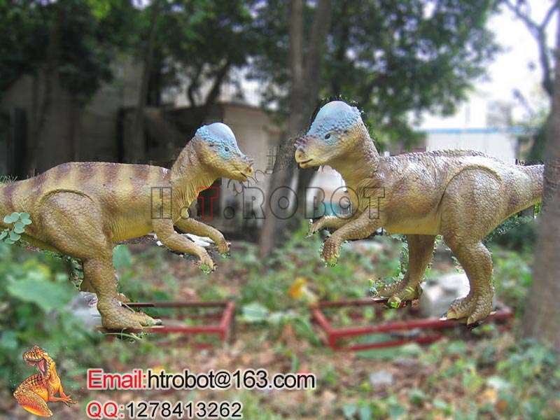 Amusement park equipment of dinosaur rides