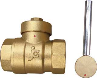Magnetic temperature locking ball valve