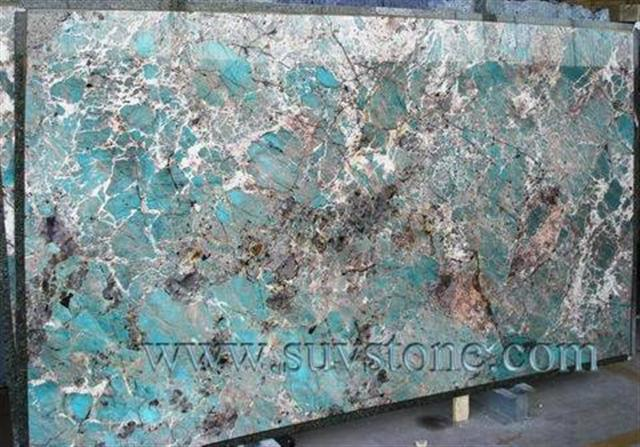 Amazonite-Blue granite slab