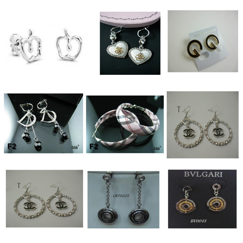 Burberry Bvlgari Cartier Chanel ect famous brand earrings jewelry