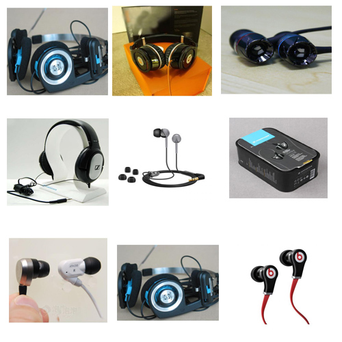 Wholesale high quality famous brand AKG ATH BOSE HP ect headhpones earhpones