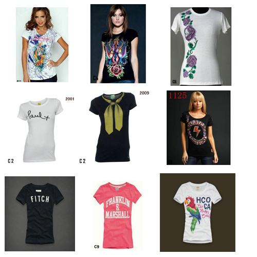 wholesale low price Juicy Couture Junk Food Louis Vuitton Nike ect famous brand women's t-shirts